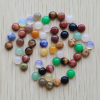 50pcs 6mm Natural Stone Round CAB CABOCHON Stones Beads Necklace Jewelry Making