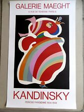KANDINSKY Affiche originale litho 69 FORME ROUGE Abstrait Bauhaus red form