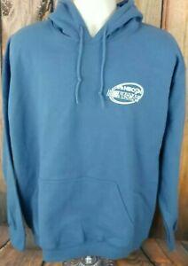 NASCAR NBC Sports Network Fleece Lined Sweatshirt Hoodie Blue Mens Large