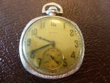 1925 Silver Plated Elgin pocket watch, in working order.