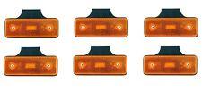6x LED Seitenmarkierungsleuchte 12V E9 Orange LKW Anhänger Begrenzungsleuchten