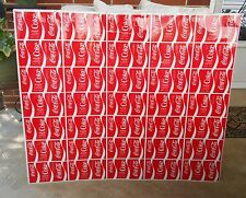 COCA-COLA FULL SHEET OF UNROLLED VINTAGE CANS