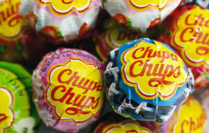 50 x STRAWBERRY AND CREAM Chupa Chups Lollipops, PARTY BAG FILLERS, WEDDINGS
