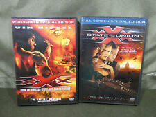 Xxx 1 (Widescreen) & Xxx 2 State Of The Union (Full) Dvd Vin Diesel Ice Cube.