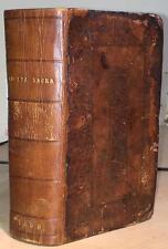 1669 Biblia Sacra. Tremellius / Junius Ed. BINDING    Christian Bible Theology