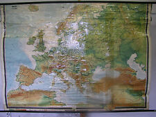 School Wall Map Map Europe Europe West 50er or 60er 206x147cm Wall Map
