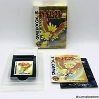 POKEMON GOLD with BOX backup battery replaced Nintendo GB Japan Import