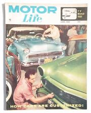 Vtg Hot Rat Rod Car Magazine - June 1956 MOTOR LIFE (How Cars Are Customized)
