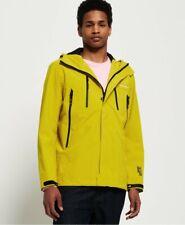 Superdry Men's Hydrotech Ultimate Waterproof Hooded Jacket Yellow BNWT Rain Coat