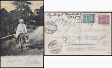 SANSIBAR ZANZIBAR 1907 Einschreiben R-Postkarte MiF Wappen 78+81 Königsberg L@@K