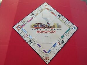 MONOPOLY Nostalgia Games Series Game Board Foldable Square Wooden Game Box Wood