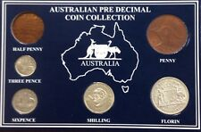 1957 Australian pre decimal coin collection - no half penny minted in 1957