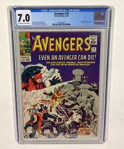 Avengers #14.CGC 7.0 KEY! (Iron Man, Thor, Captain America) 1965 Marvel Comics