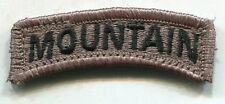 US Army Mountain Division ACU Patch Tab W/Hook Back