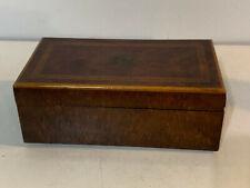 Vintage Antique Swiss Burl Wood Elm Dresser Music Box