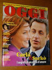 OGGI 2008/51=CARLA BRUNI=BELEN RODRIGUEZ=CERETE BASSO=ARDORE MARINA=CUCCARINI L.