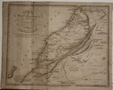 MOROCCO CANARY ISLANDS SPAIN ALGERIA 1809 JACKSON ANTIQUE MAP FIRST EDITION