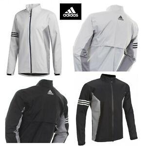 New ADIDAS Climaproof Waterproof Golf Rain Jacket Full Zip - XS S M - Grey Black