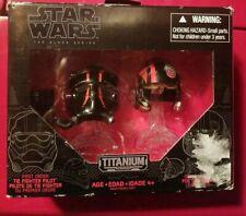 Star Wars Black Series #04 First Order Tie Pilot & Poe Dameron Helmets Titanium