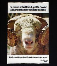 FIAT TRATTORI manifesto poster Montone Ariete Ram Motori Allevamento B113