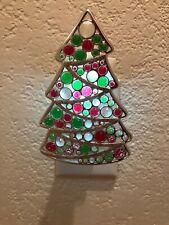Bath & Body Works Wallflower Plug-in Diffuser  Silver Tone Christmas Tree