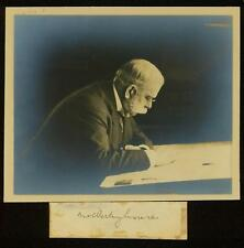 c1900 George Westinghouse Jr signature and large Photograph - originally joined
