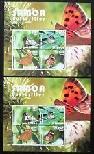 2 x Samoa 2015 Block 99 ** MNH Schmetterlinge Butterflies Michel 240,-- €