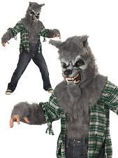 Boys Werewolf Costume Childs Wolf Halloween Fancy Dress Kids Howling Outfit