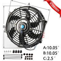 "10"" 12V Radiator Electric Curved S-Blade Cooling Fan Reversible Muscle Car"