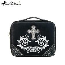 MONTANA WEST Bible Cover Black Spiritual Collection MBC-DC001 Rhinestone Cross~