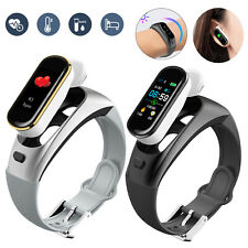 2 in 1 Bluetooth Smart Watch Wearable Bracelet W/Mic Wireless Headset For Call