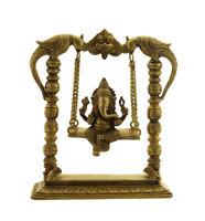 Statua Di Ganesh Su Altalena Hollywoodiana Con Kirtimukha Divinità Indù 2KG100