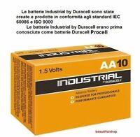 30 BATTERIE DURACELL ALCALINE INDUSTRIAL STILO PILE AA NUOVA CONF PROCELL