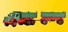 Kibri 14063 gauge H0, Magirus Deutz 230 D 26 AK WITH DUMP TRAILER #