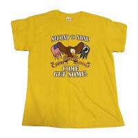 "VTG 90s POW Military T-Shirt Men's Medium ""Second To None"" USA Pride America 80s"
