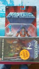 Man E Faces Masters Of The Universe He Man Motu With Vhs Video #3