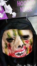 Halloween Blood & Scars Hooded Mask - Horror - Monster  - Fancy Dress Costume