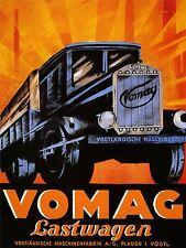 Pubblicità vomag LASTWAGEN tedesco Camion trasporto Van Arte Poster Stampa lv1332