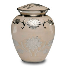 Brass Cremation Urn in Peach - MEDIUM - 2nd Quality - Free Shipping - B-1500-M-P