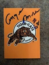 signed in person HAMILTON TI-CATS CFL legend ANGELO MOSCA  REL '95