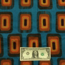 Vintage 60's 70's Groovy Mid-Century Modern SQUARES Retro Space Age Fabric #2
