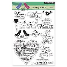 PENNY BLACK RUBBER STAMPS CLEAR SO VERY MUCH STAMP SET NEW 2015