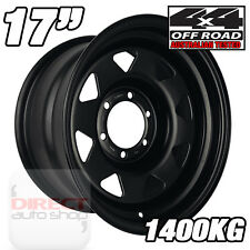 1x 17x8 25P Heavy Duty BLACK Steel Wheel Hilux SR5 Prado Pajero Dmax Rodeo 4x4