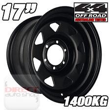 1x 17x8 40P Heavy Duty BLACK Steel Wheel Toyota Hilux SR Ford Ranger 4x4
