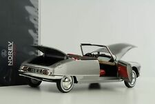 Citroen DS 19 Cabriolet 1961 pearl grey Capron mit Softtop Dach 1:18 Norev 18159