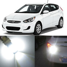 Alla Lighting Front Turn Signal Lights 2357NA White LED Bulbs for Hyundai Accent