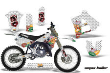 Yamaha YZ250 Graphic Kit Wrap + Number Plate Decals Stickers 1991-1992 VEGAS WHT
