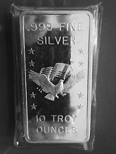 APM Eagle Flag 10 Troy oz .999 Fine Silver Art Bar