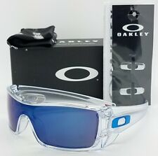 NEW Oakley Batwolf sunglasses Clear Ice Iridium 9101-0727 Blue Bat 9101-07 9100
