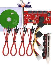 PCI bootfähiger SATA-II 4-Port RAID 5 Controller 300mb/s sil3124 + kabelset